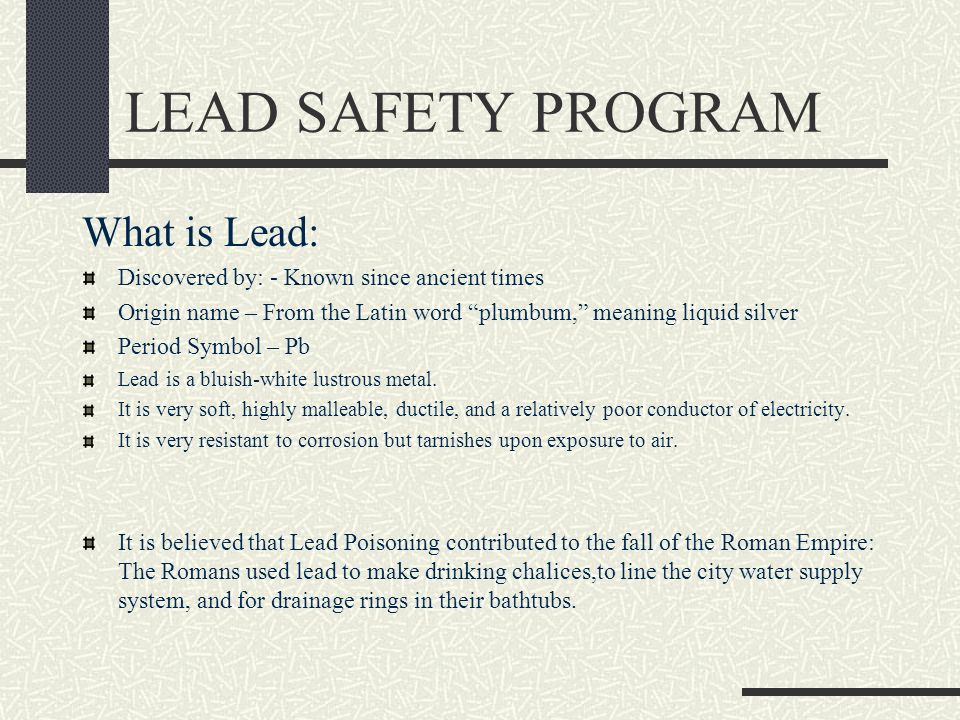 EXPOSURE TO LEAD IN CONSTRUCTION 29 CFR ppt download