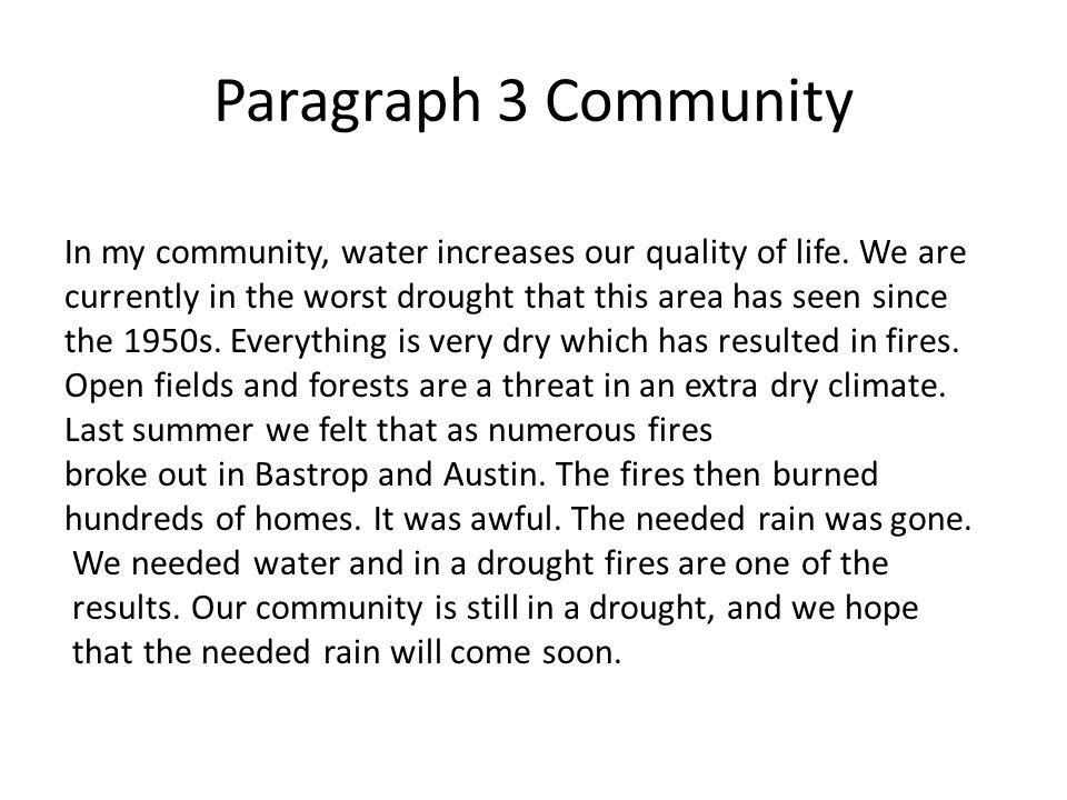 water is life paragraph