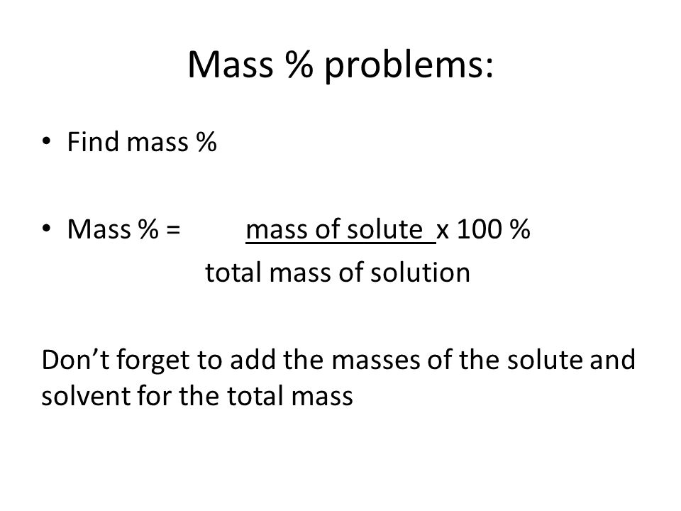 solving dilution problems