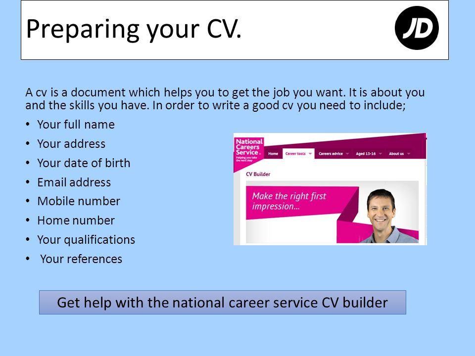 Content Preparing Your Cv What To Include In Your Cover Letter Opening Hours Uniform Information About Jd Skills And Quality Jd Vs Dw Sports Ppt Download
