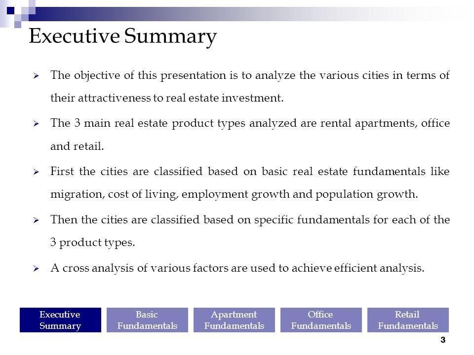 real estate executive summary pdf