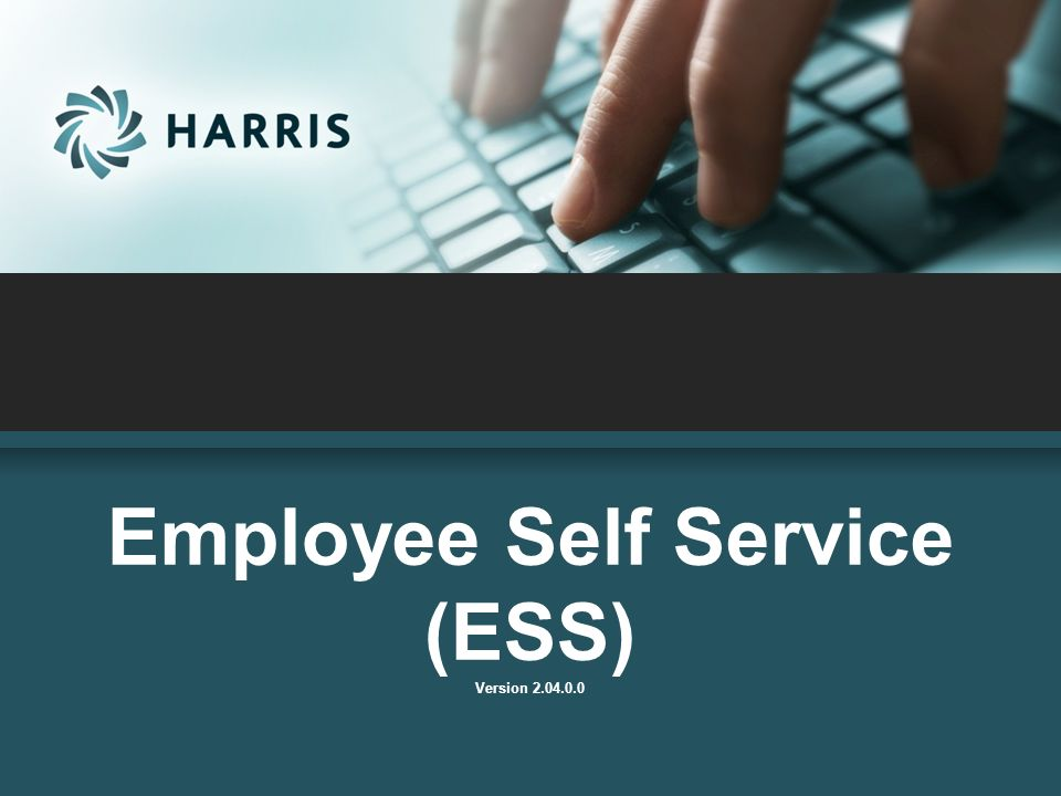 Employee Self Service (ESS) Version