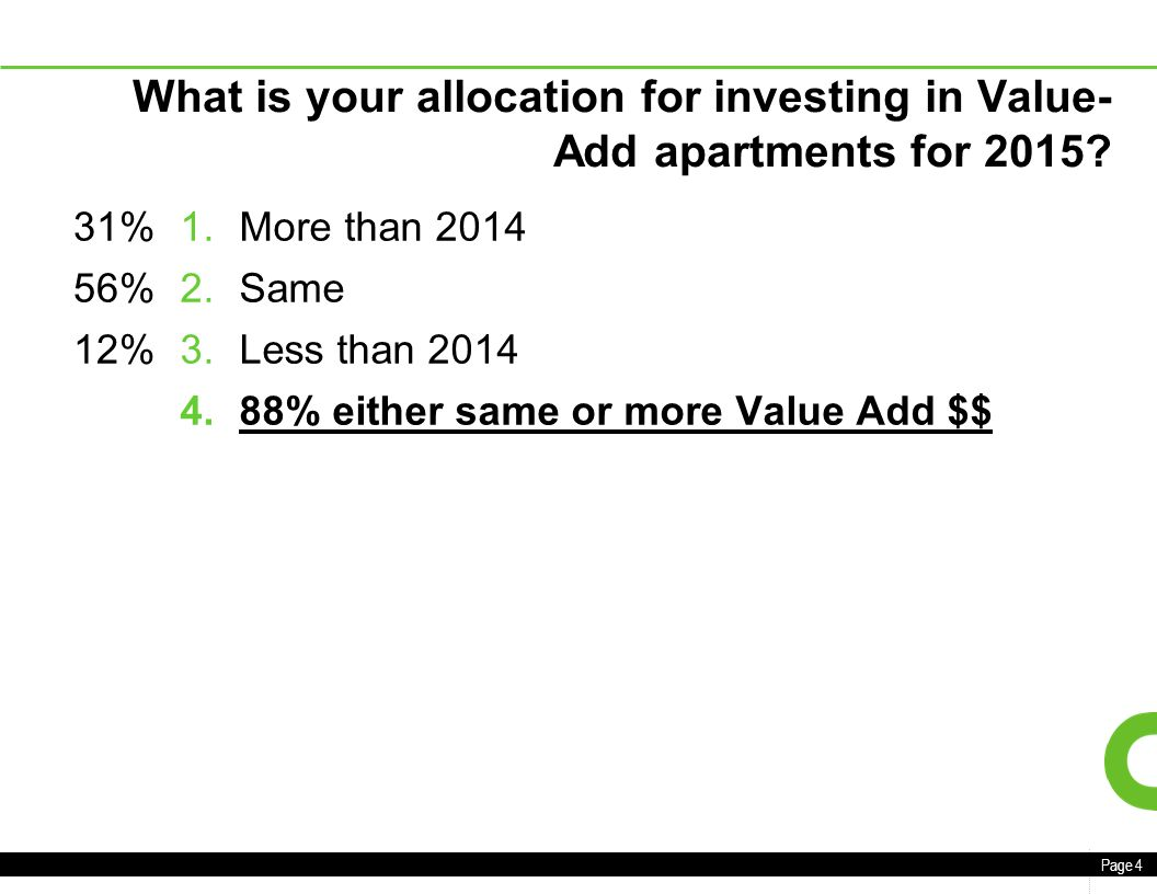 Page 1 CBRE CHICAGO MULTIFAMILY INSTITUTIONAL 2015 OUTLOOK CBRE