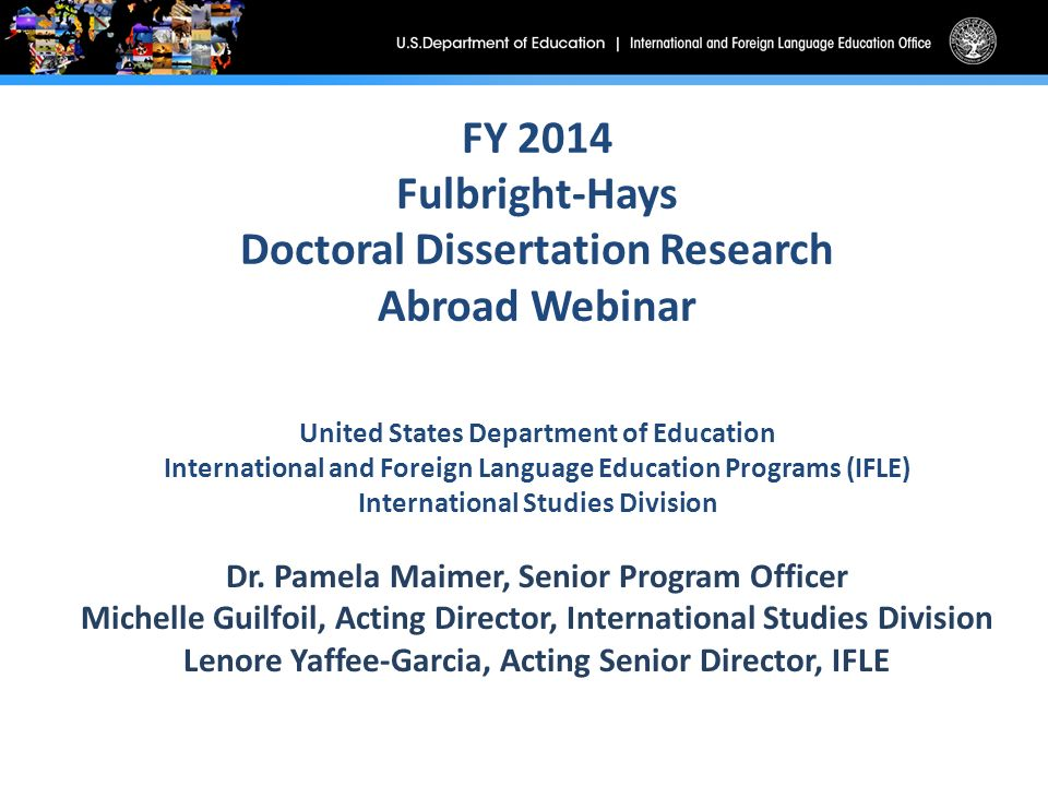 fulbright-hays doctoral dissertation research abroad (ddra) grant