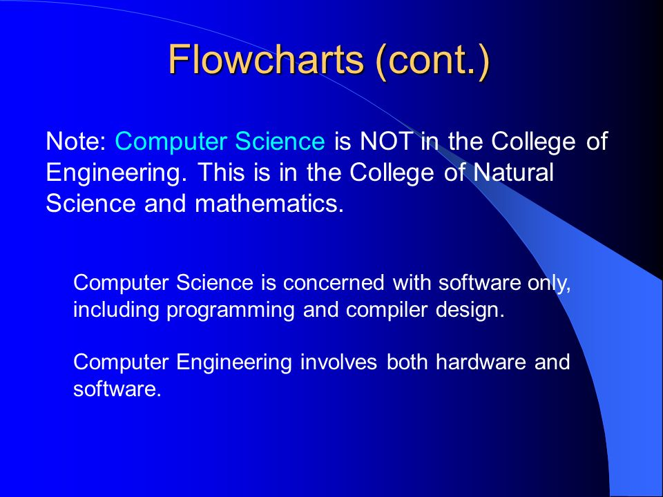 Note: Computer Science is NOT in the College of Engineering.
