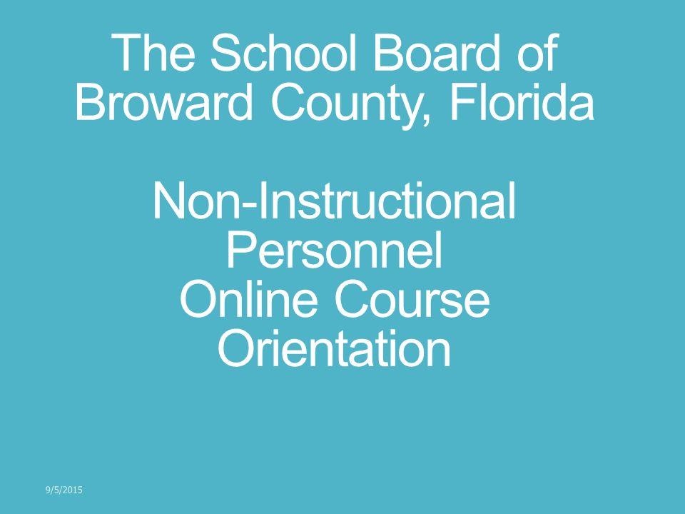 The School Board Of Broward County Florida Non