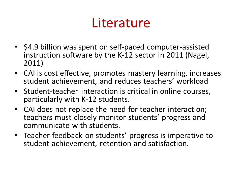 Self Paced But Not Alone Research On Feedback And Computer Assisted