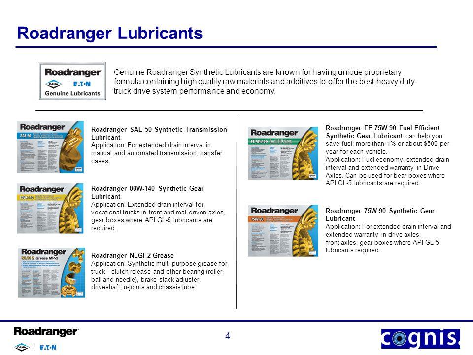 Roadranger Lubricants April Agenda ○Who is Roadranger
