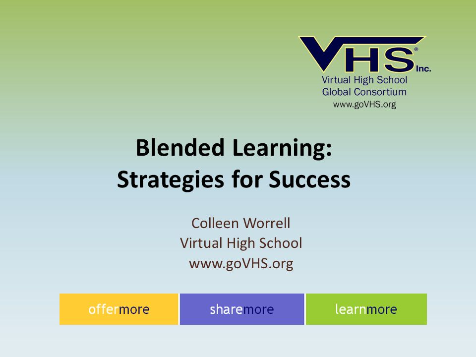 Colleen Worrell Virtual High School   Blended Learning: Strategies for Success