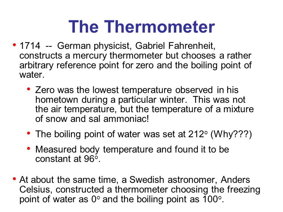 The Thermometer Galileo Produces The First Thermometer Early