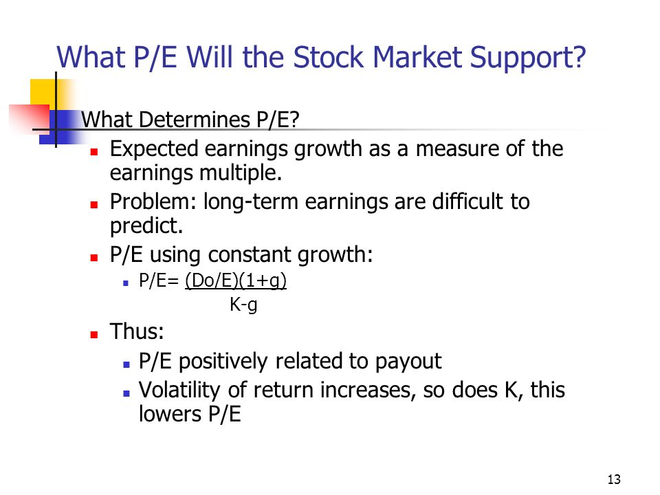 1 When 'P' and 'E' Spell Profits P/E ratio can mean many
