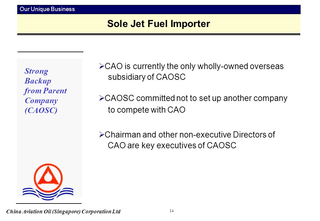 China Aviation Oil (Singapore) Corporation Ltd 1 Fuelling
