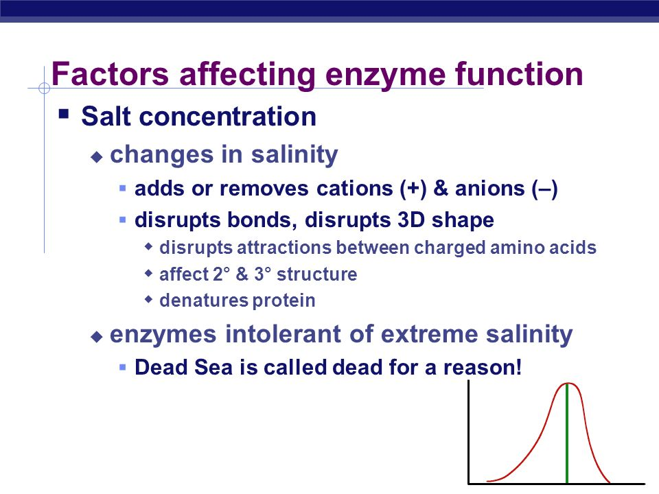 Salinity salt concentration reaction rate What's happening here !