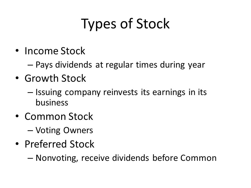 Chapter 11 Section 3 The Stock Market Buying Stock Stock Or