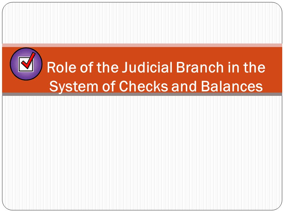 Judicial Review The power to determine the constitutionality of laws and executive acts.