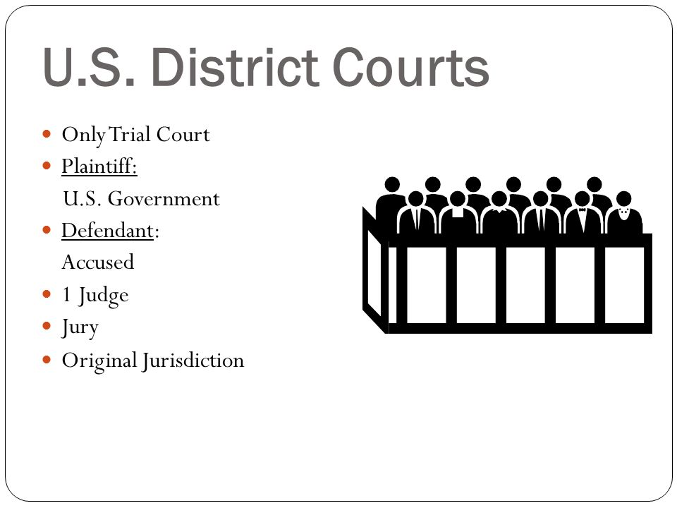 Types of Cases heard by Federal Courts: - Constitutional Questions -Cases arises from a law passed by Congress (federal law) -Crime committed on federal property Bankruptcy Disputes between citizens of different states Disputes involving foreign government