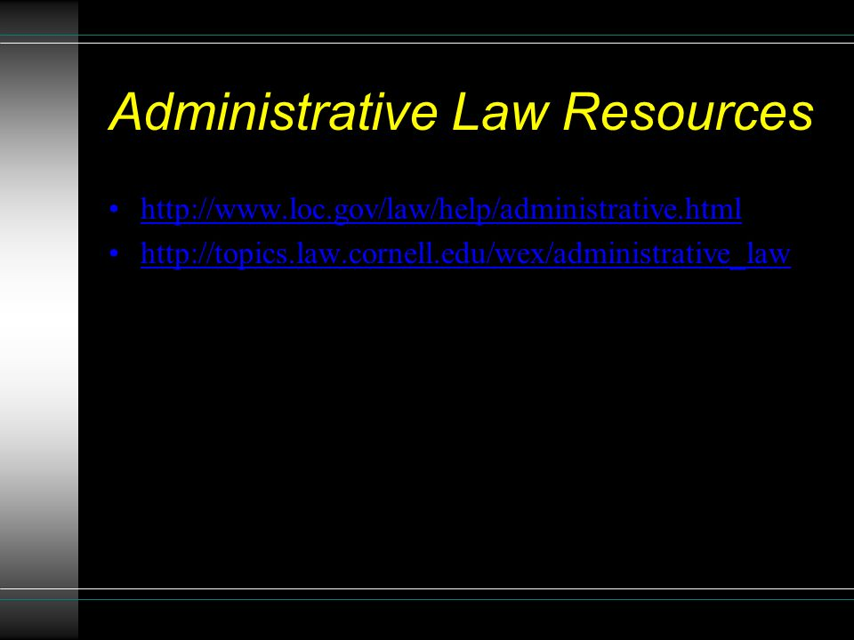 Administrative Law Resources