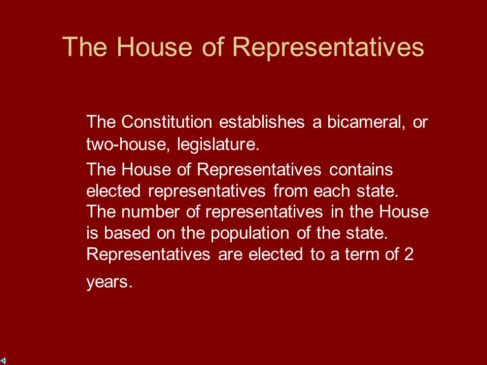 The Legislative Branch Article I of the Constitution establishes the powers of and limits on Congress.