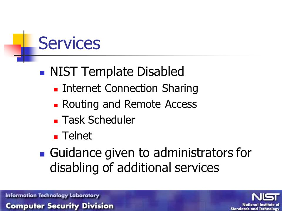 NIST Recommendations for System Administrators for Securing Windows