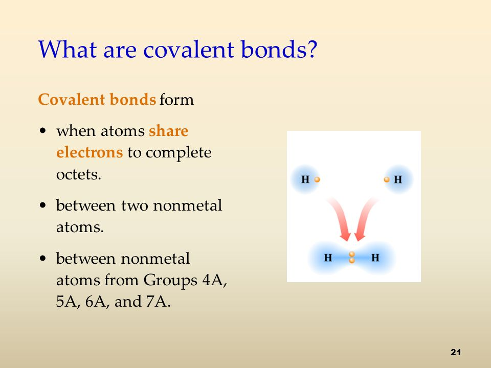 What are covalent bonds. Covalent bonds form when atoms share electrons to complete octets.