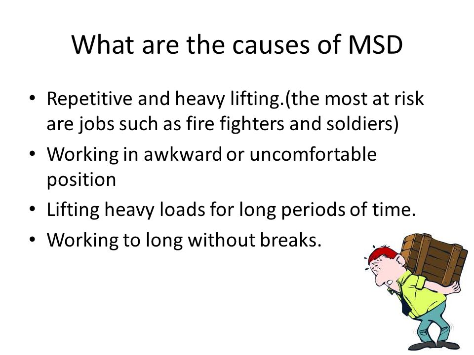 manual handling regulations by hobie and kyle musculoskeletal rh slideplayer com musculoskeletal disorders msd manual handling MSD Distributor Parts Diagram