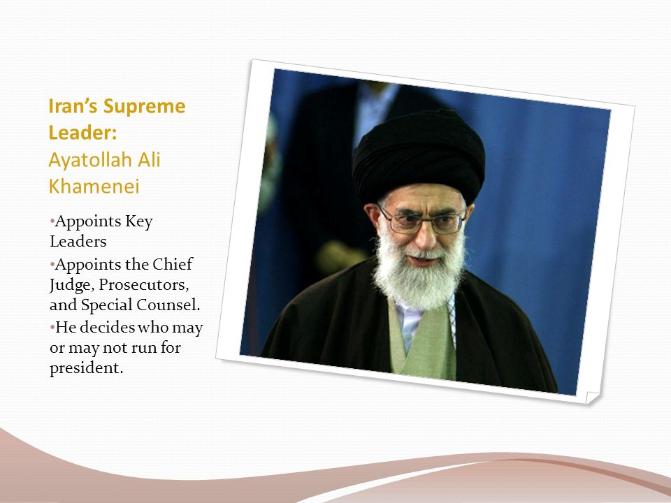 Iran's Supreme Leader: Ayatollah Ali Khamenei Appoints Key Leaders Appoints the Chief Judge, Prosecutors, and Special Counsel.