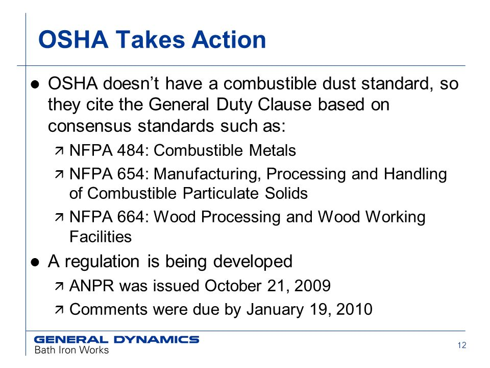Combustible Dust New Emphasis on an Old Hazard  2 Agenda l