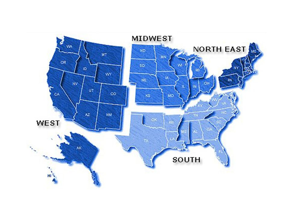 The Regions of the United States - ppt video online download
