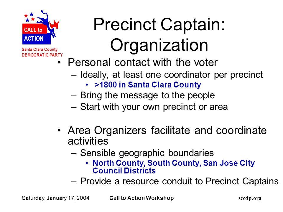 N Santa Clara County DEMOCRATIC PARTY toto CALL to ACTION N Santa ...