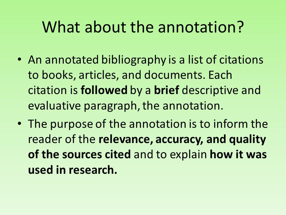 What about the annotation.