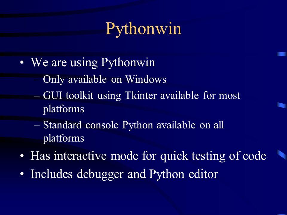 Introduction to Python, COM and PythonCOM Mark Hammond