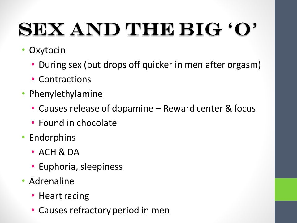 Oxytocin and sexuality