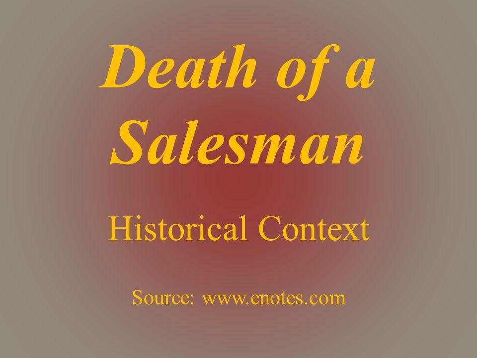 death of a salesman historical context