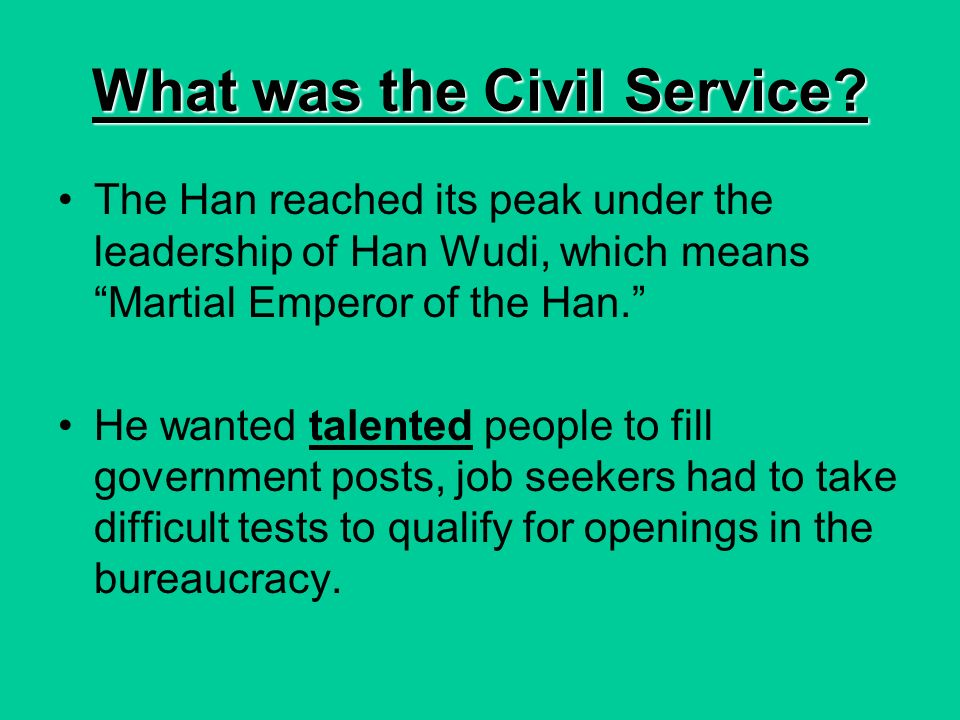What was the Civil Service.
