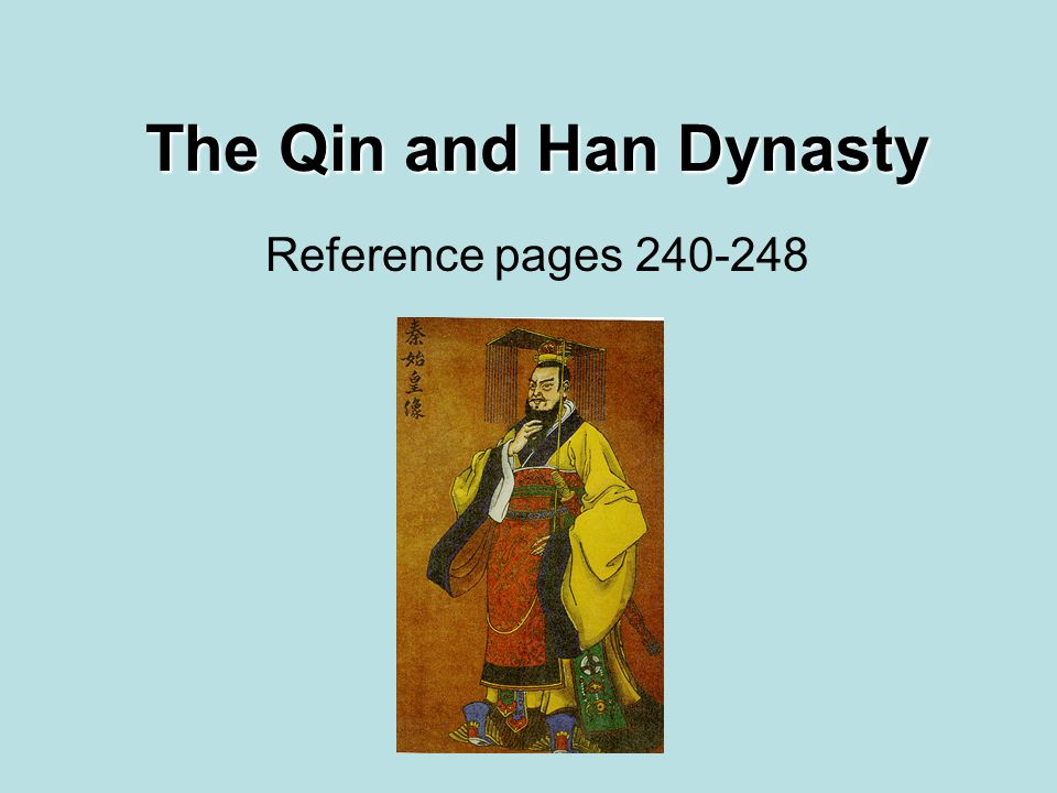 The Qin and Han Dynasty Reference pages