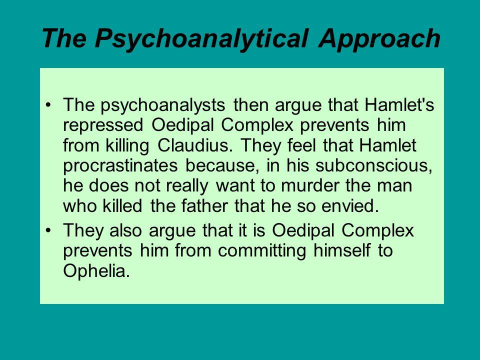 oedipus complex hamlet evidence