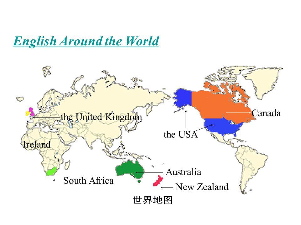 Map Of South Ireland New Zealand.English Around The World The Usa Canada New Zealand Australia South