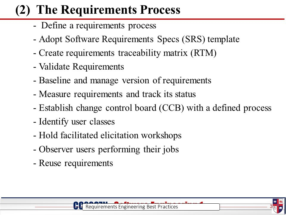 CC20O7N - Software Engineering 1 CC2007N Software Engineering 1 ...