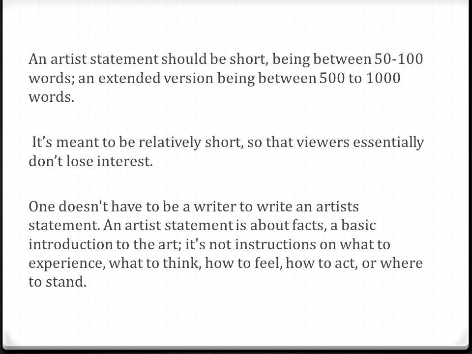 artist statement generator