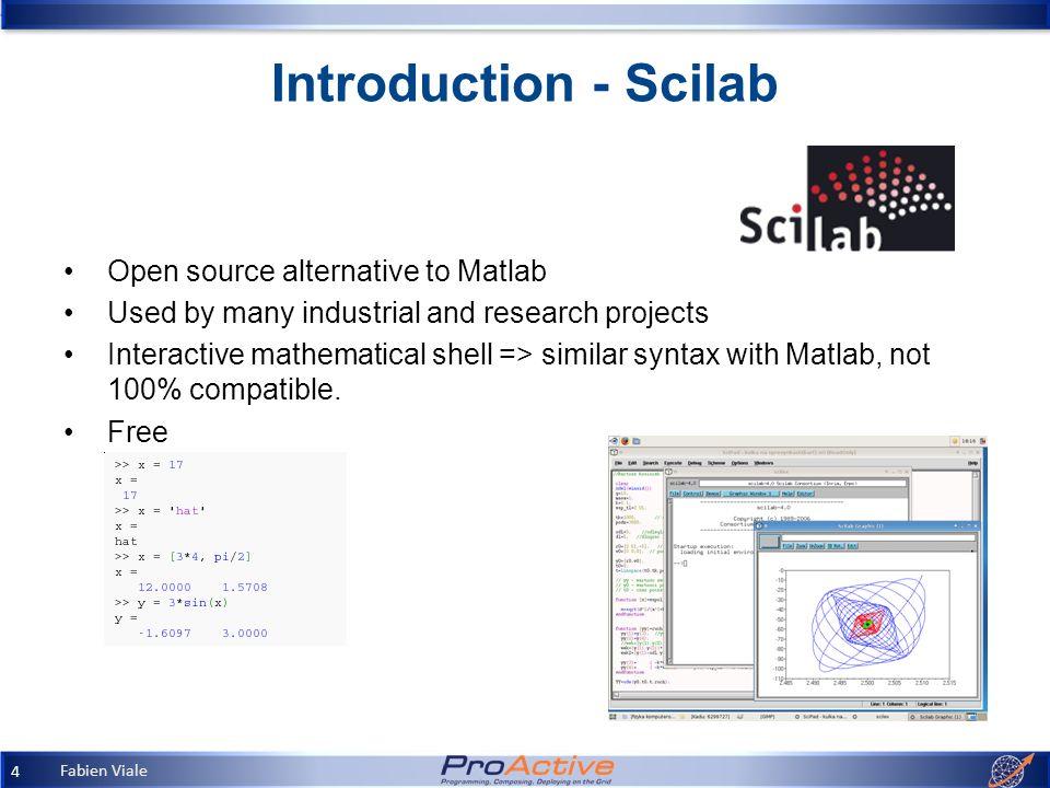 Fabien Viale 1 Matlab & Scilab Applications to Finance