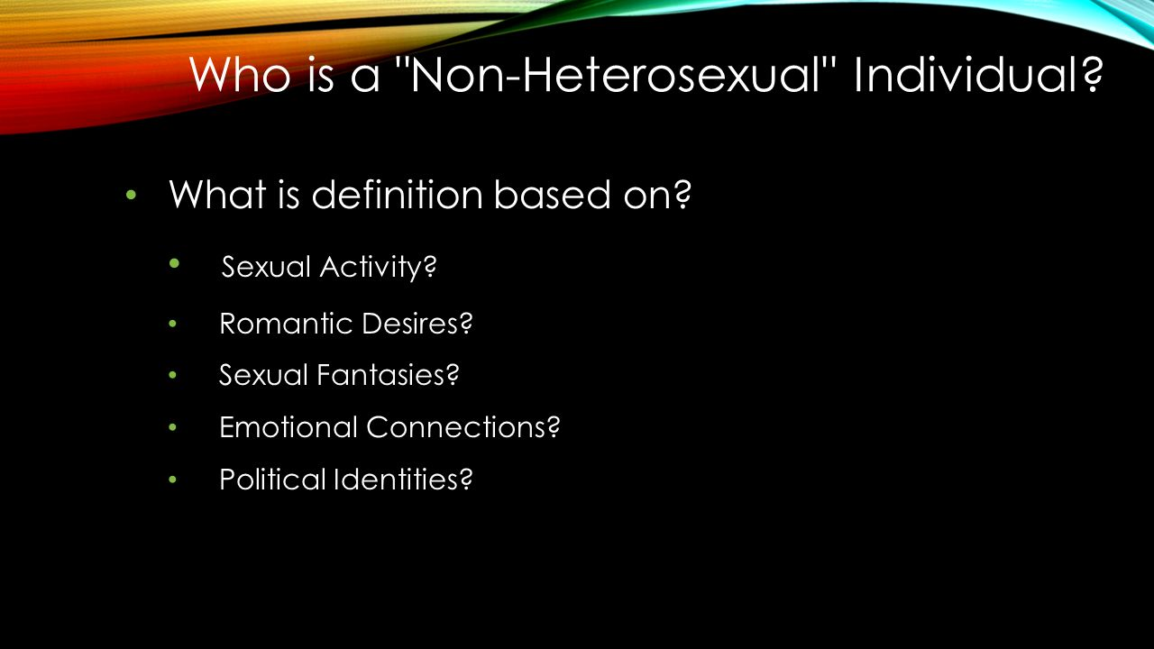 What does non heterosexual mean