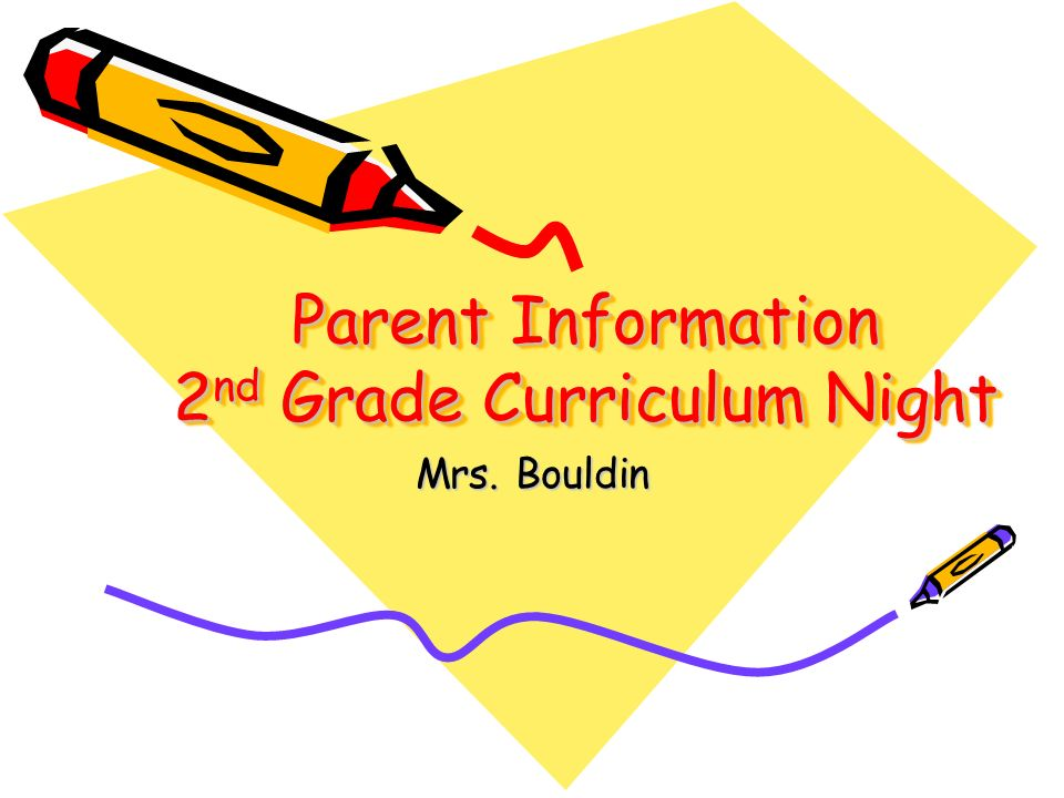 Parent Information 2 nd Grade Curriculum Night Mrs. Bouldin