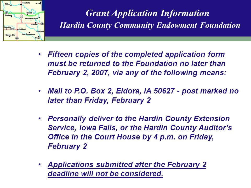 Hardin County Community Endowment Foundation Welcome to the 2 nd