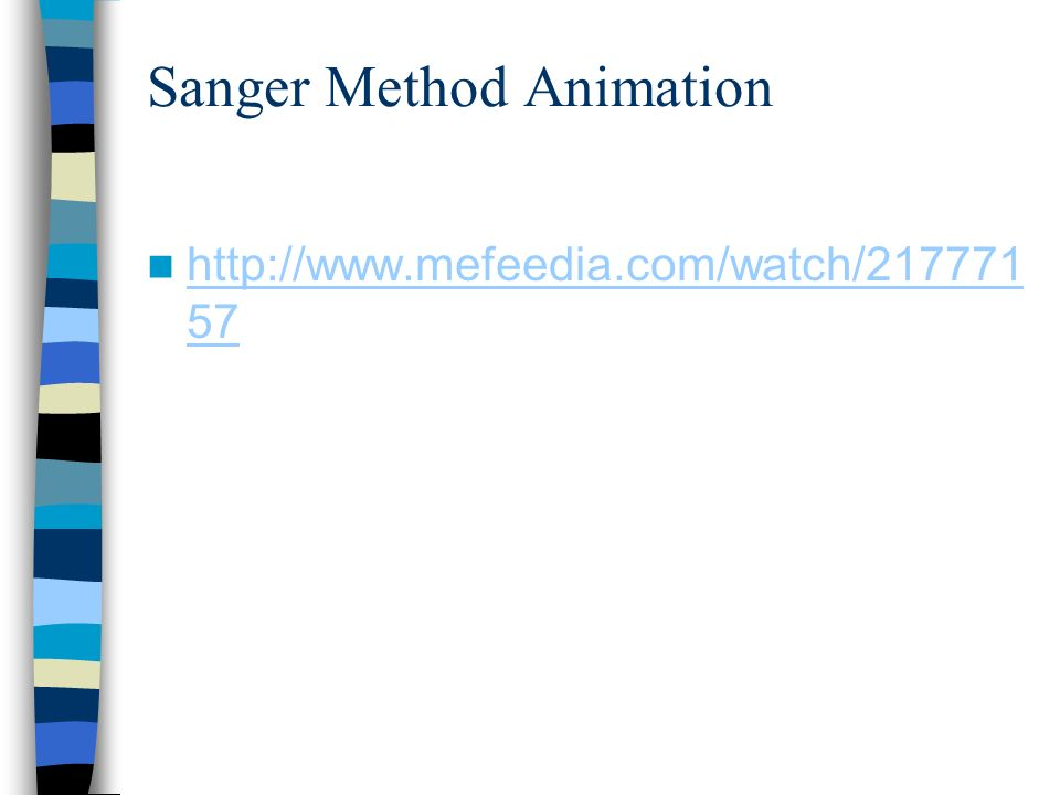 Sanger Method Animation