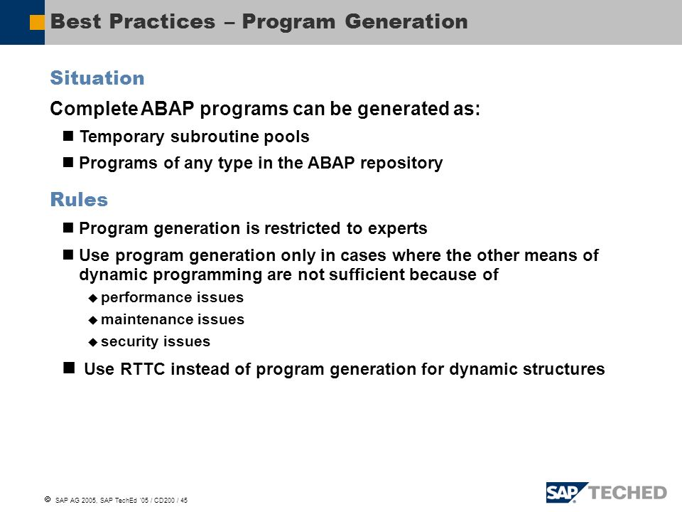 Session ID: CD200 ABAP Objects – Programming Guidelines  - ppt download