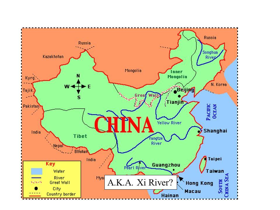 Xi River China Map.Ancient Chinese Civilization 4 1 Main Idea China S Rivers And