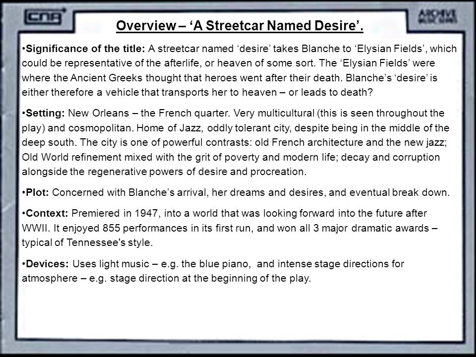 blue piano in streetcar named desire