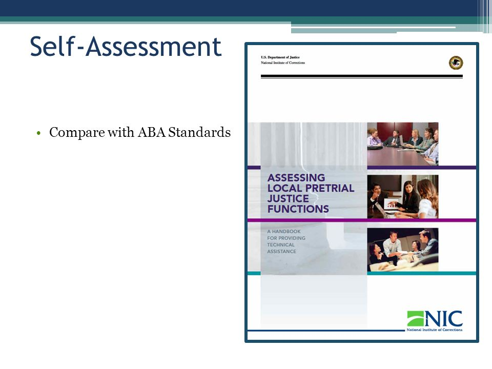 Self-Assessment Compare with ABA Standards
