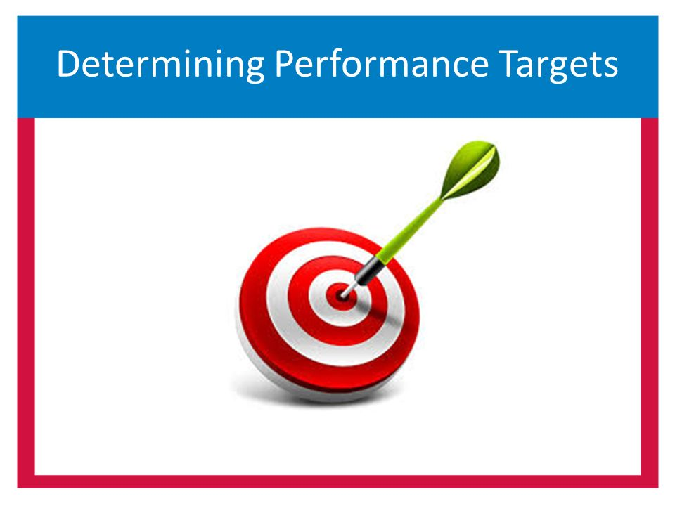 Determining Performance Targets
