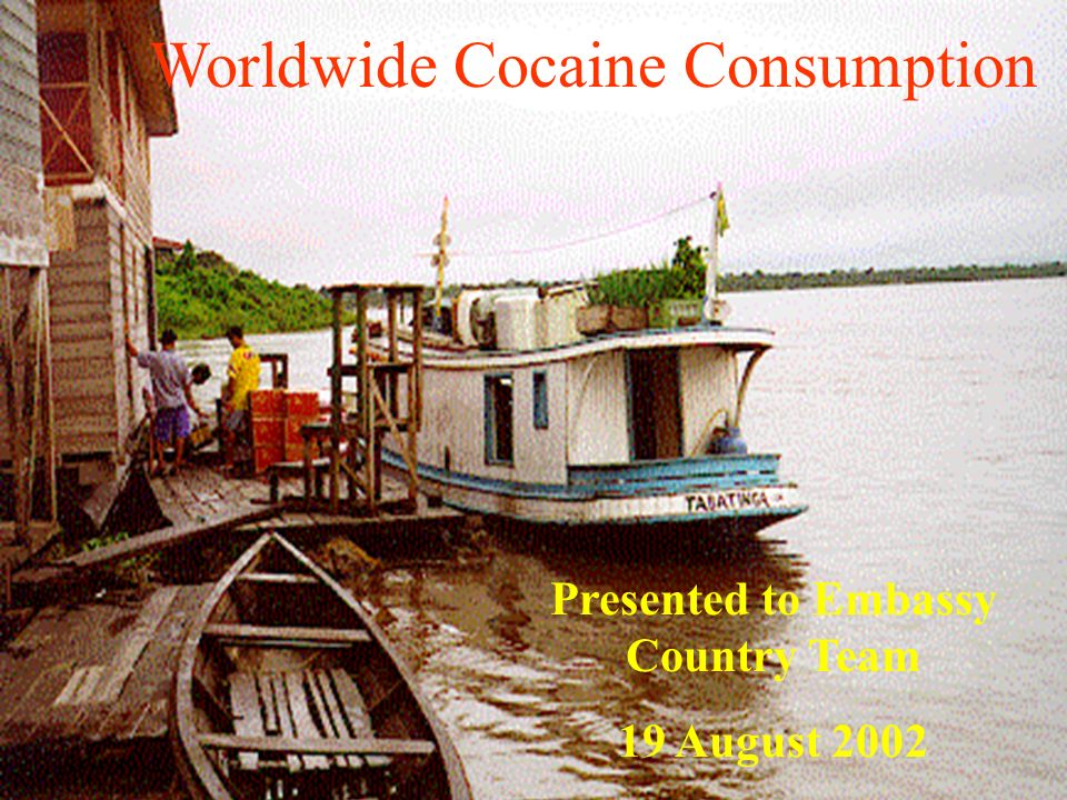 Worldwide Cocaine Consumption Presented to Embassy Country Team 19 August 2002
